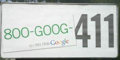 Goog-411 billboard