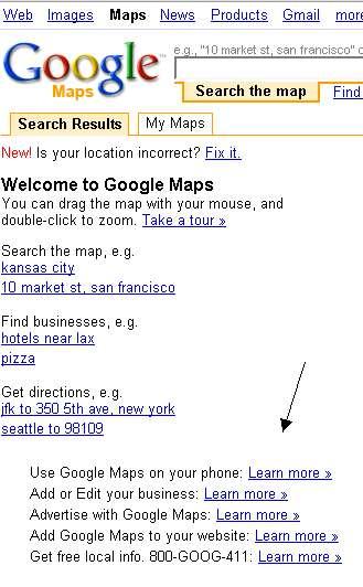 Google Maps Now Promoting Google Maps
