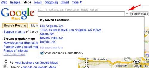 Google Maps: Saved Location Update