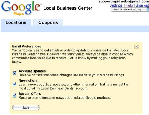 Google Maps starts Newsletter and Account Updates Email