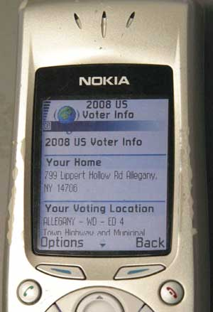 Mobile Voter Information from Google