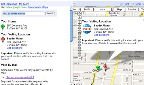 Google Maps Polling Location Information Goes Live