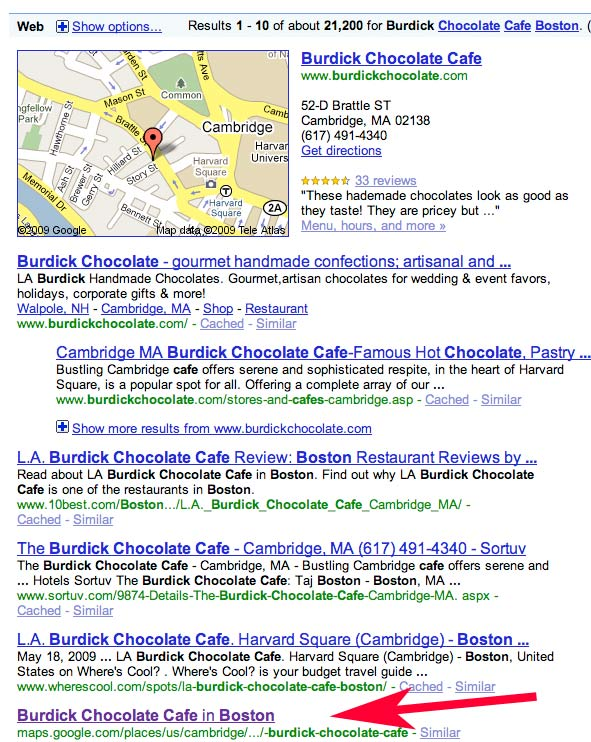 Places-in-serps
