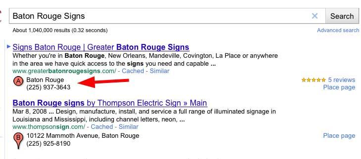 Google Places Hide Address Baton Rouge Sign Company