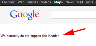 We currently do not support the location