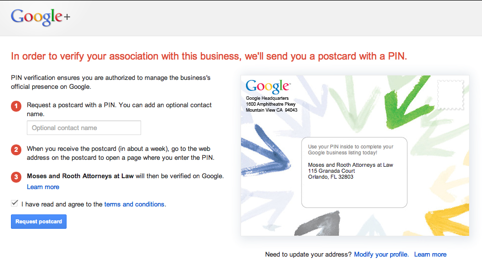 Step by Step Guide to the Google+ Business/Local Merge Verification