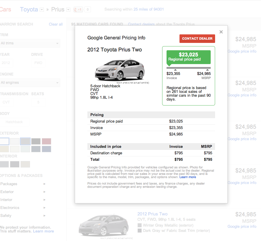Google Testing Lead Generation System for New Car Sales
