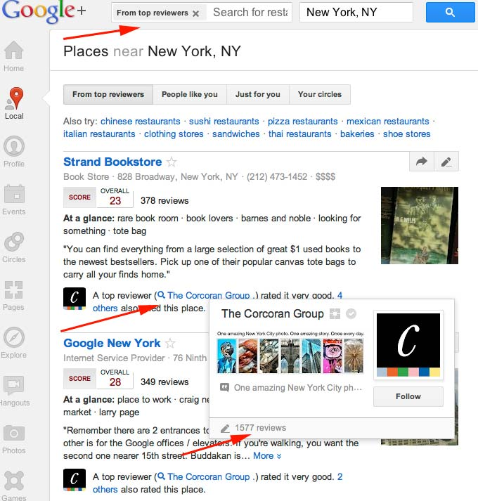 How to Get Review Cred in G+ Local as a Top Reviewer- As a ...