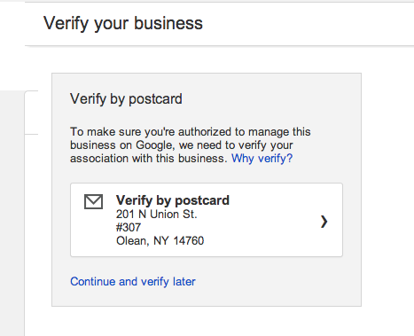 Verify your business-by-postcard