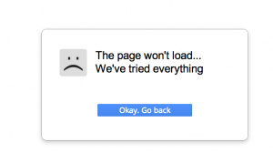 page-wont-load