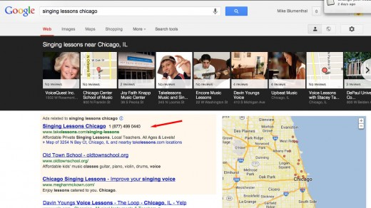 Category Search - Singing lessons Chicago - click to view larger