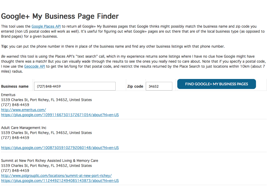 Free Google Local Duplicate Listing Finder Tool