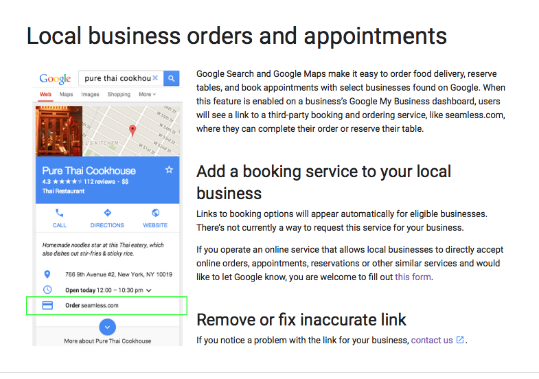 Google Rolls Out Mobile Local Business Orders And Appointments