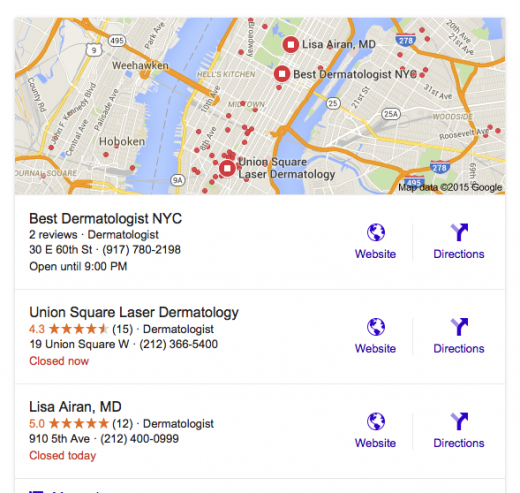 Search: Best Dermatologist NYC (I am sure that he is....)