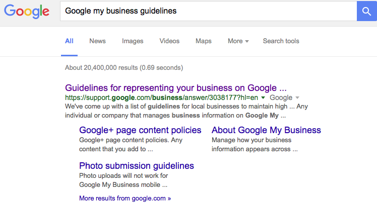 Google My Business Guidelines – MIA