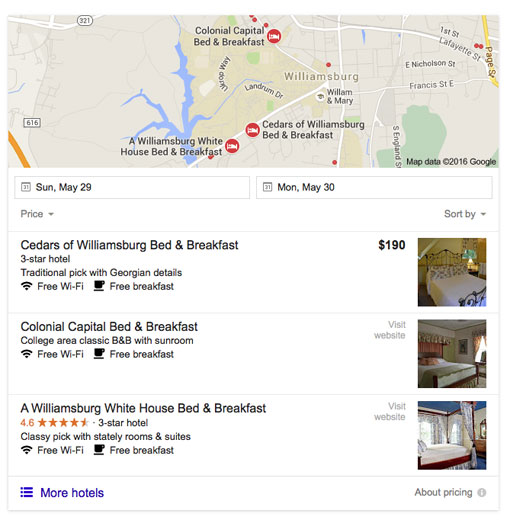 After the change, Google almost exclusively shows interior photos.