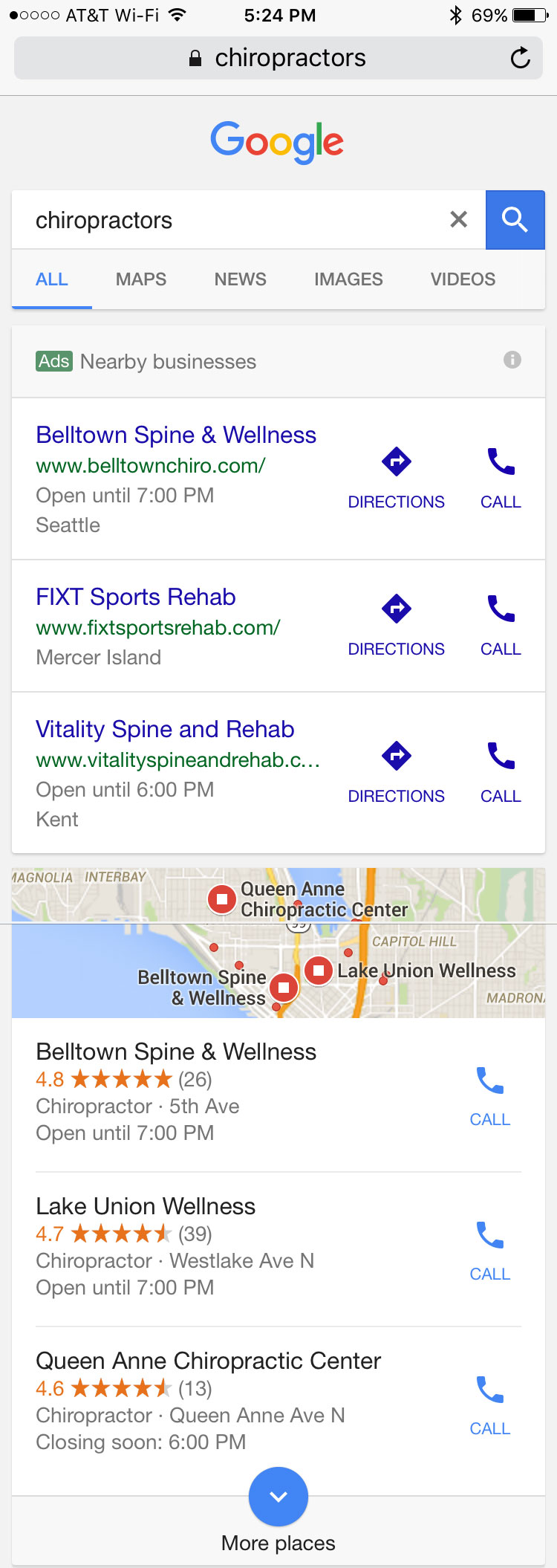 Google Nearby Ads – A New Hyperlocal Ad Display Format?