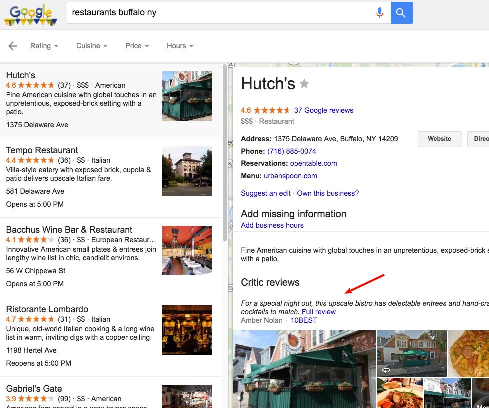 restaurants buffalo ny   Google Search