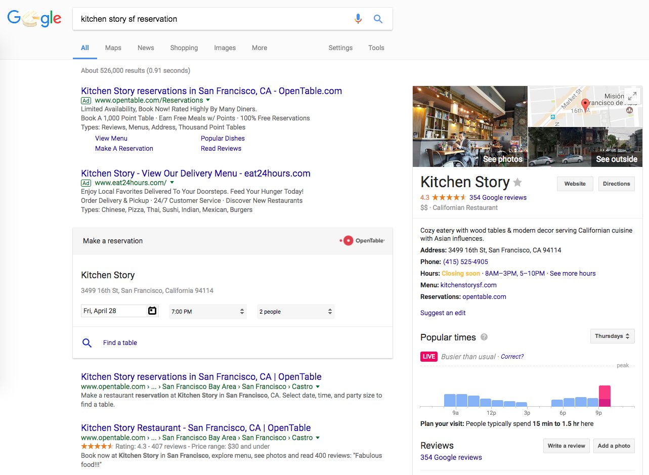 Pleasing Google Local Restaurant Tests Reservation Answer Box Home Interior And Landscaping Eliaenasavecom
