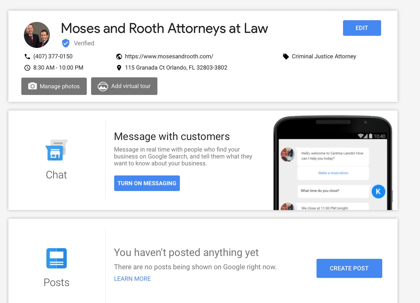 Google My Business Messaging FAQ