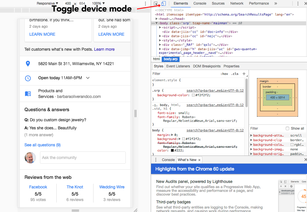 Hack: Seeing Google Questions & Answers on the Desktop