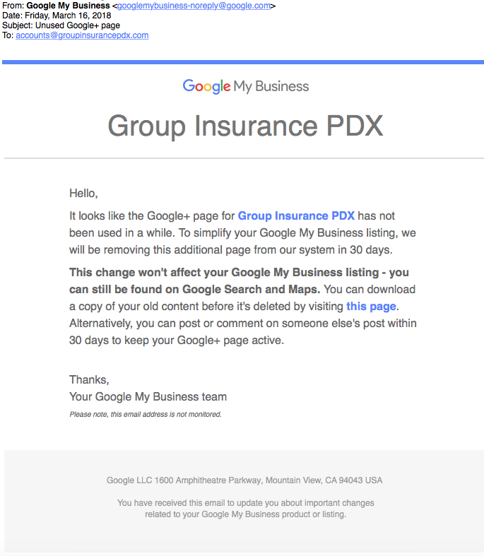 G+ – Google Local Divorce Mop Up – Who Got the Kids? Not