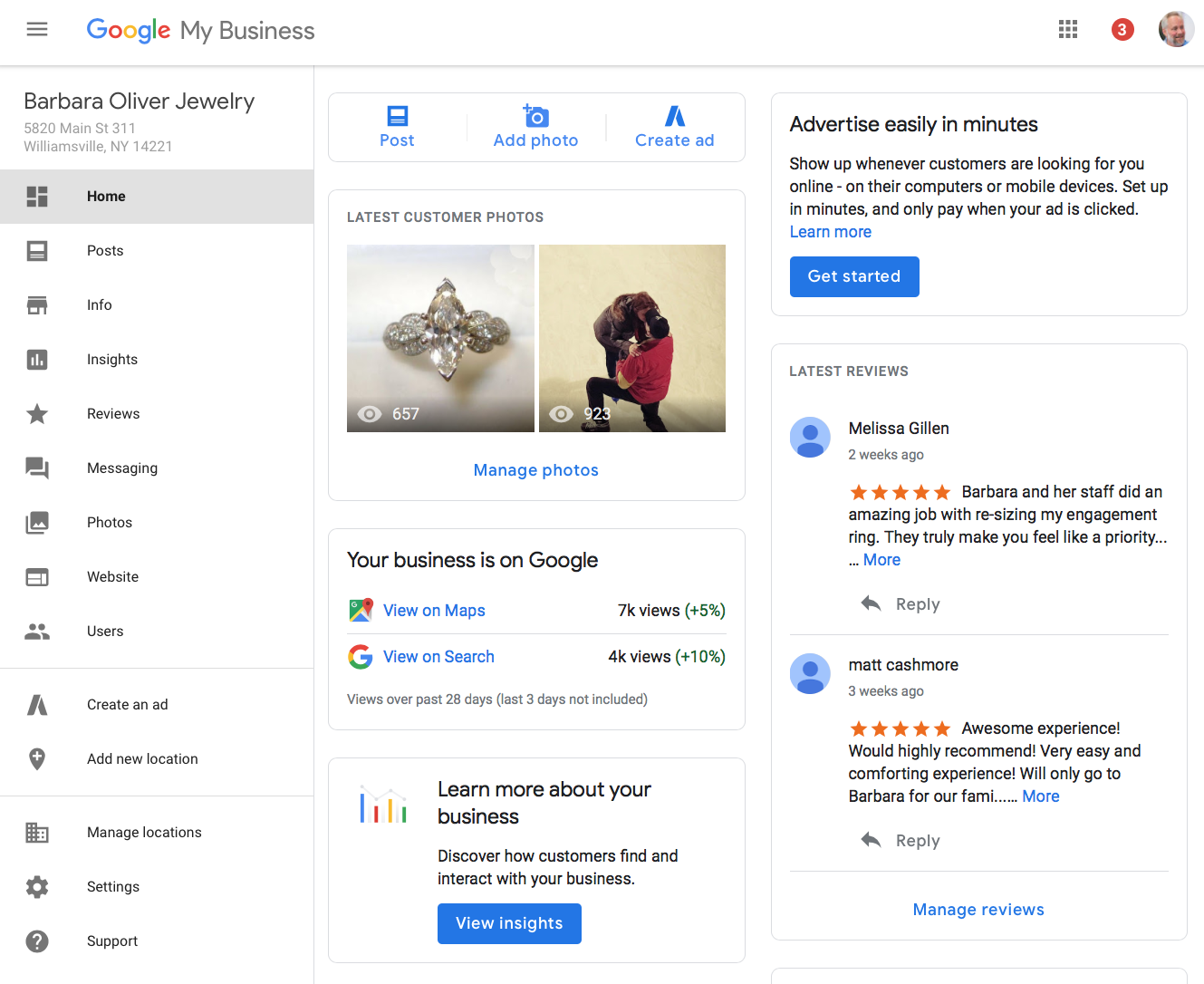 Google Pushes Full Release of New Location Dashboard